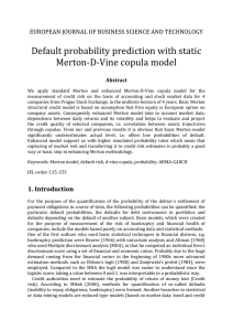 probability prediction with static Merton-D-Vine copula model