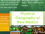 NM Physical Geography Unit 1.1