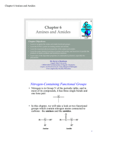 Chapter 6 Amines and Amides
