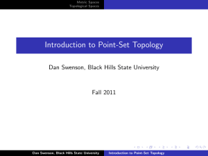 Introduction to Point-Set Topology