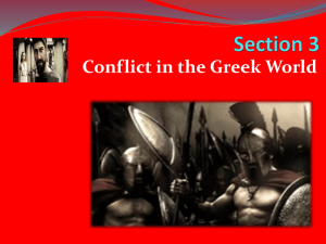 "Section 3 PowerPoint ""Conflict in the Greek World"""