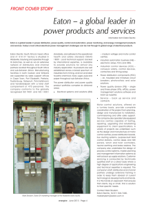 Eaton – a global leader in power products and services
