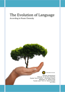 The Evolution of Language - Utrecht University Repository