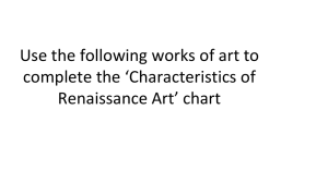 Use the following works of art to complete the *Characteristics of