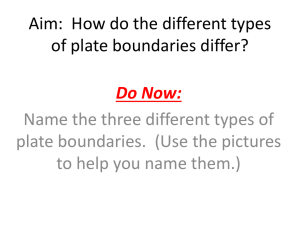 Aim: How do the different types of plate boundaries differ?