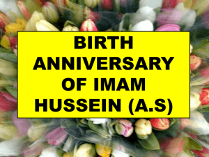 Wiladat of Imam Hussain(a.s.)