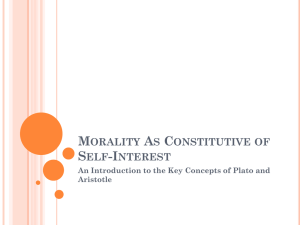 Morality As Constitutive of Self-Interst