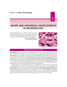 scope and historical developments in microbiology