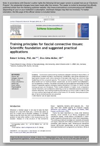 Training principles for fascial connective tissues