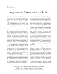 Anglicanism: Protestant or Catholic?