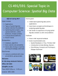 CS 491/591: Special Topic in Computer Science: Spatial Big Data
