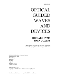 optical guided waves and devices - Workspace