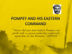 Pompey`s Eastern Command