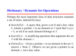 Dictionary / Dynamic Set Operations