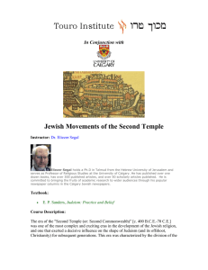 Jewish Movements of the Second Temple