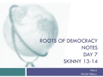 Roots of Democracy Notes