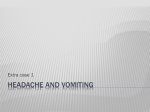 Headache and vomiting - Ipswich-Year2-Med-PBL-Gp-2