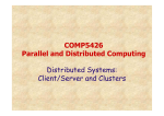 COMP5426 Parallel and Distributed Computing Distributed Systems