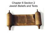 Chapter 8 Section 2 Jewish Beliefs and Texts