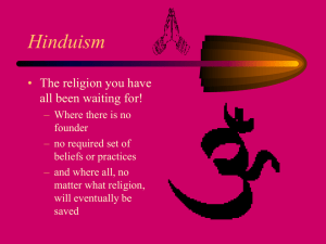 Hinduism - University of Mount Union