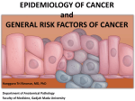 epidemiology of cancer