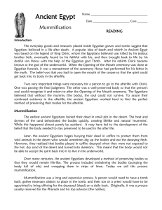 Mummification-Reading