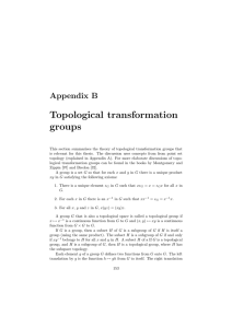 Appendix B Topological transformation groups