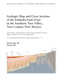Geologic Map and Cross Sections of the Embudo Fault Zone in the