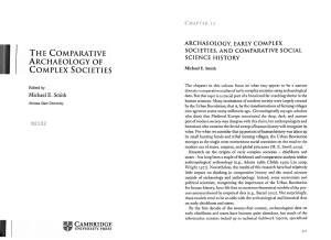 Archaeology, Early Complex Societies, and