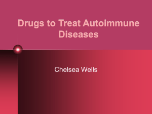 Drugs to Treat Autoimmune Diseases