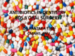 Lecture Antibiotics in Dentistry File