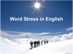 What is Word Stress?