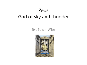 Zeus God of sky and thunder