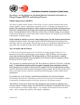 The UNFCCC Convention and the Kyoto Protocol fact sheet