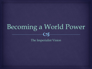 Becoming a World Power