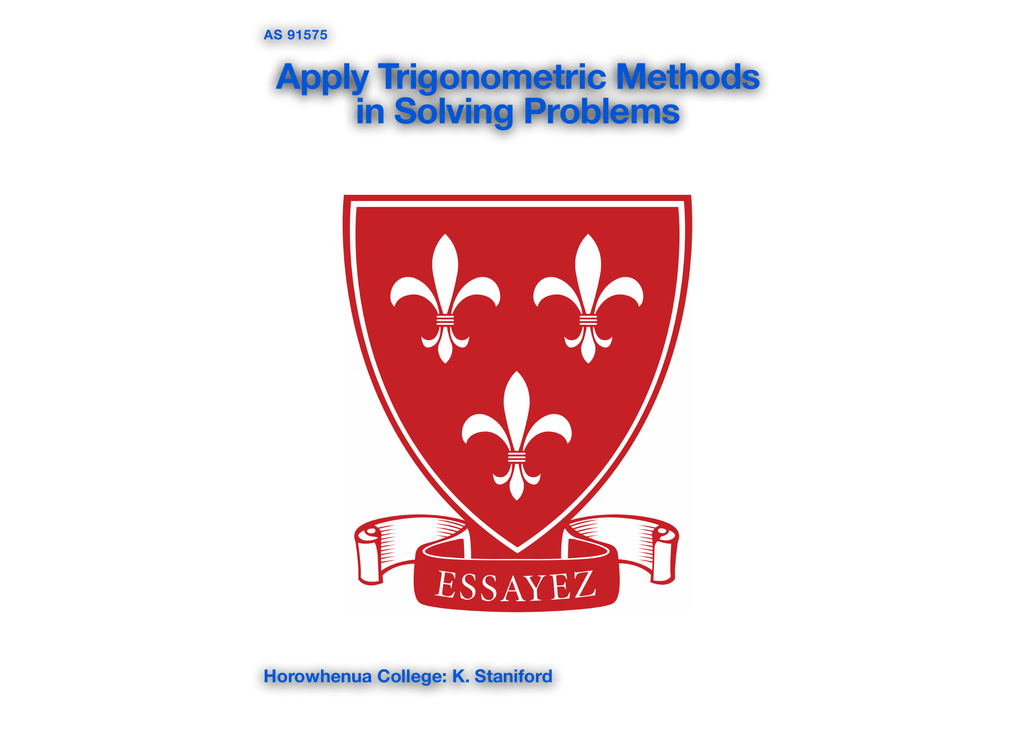 Apply Trigonometric Methods in Solving Problems