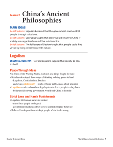 Lesson 2 China`s Ancient Philosophies