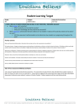 Student Learning Target