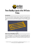 Power Handling Capacity of the 100 Series Probes