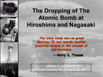The Dropping of the Atom Bomb at Hiroshima and - pams