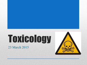 Toxicology - Uplift Education