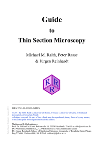 to Thin Section Microscopy - Mineralogical Society of America