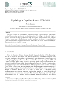 Psychology in Cognitive Science: 19782038
