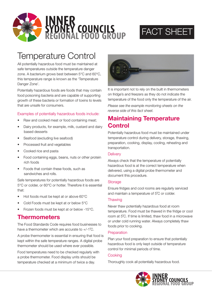 Temperature Control Fact Sheet