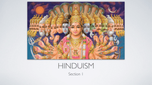 Hinduism Keynote - Westmoreland Central School