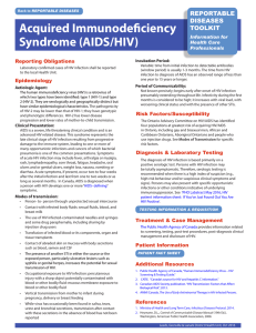 Acquired Immunodeficiency Syndrome (AIDS/HIV)