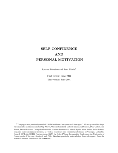 self-confidence and personal motivation
