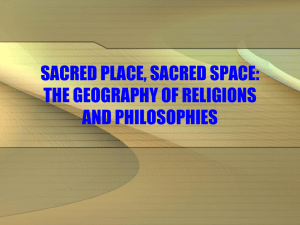THE GEOGRAPHY OF RELIGIONS AND PHILOSOPHIES