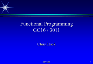 D16 Functional Programming
