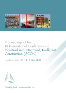 Proceedings of the 1st International Conference on Industrialised